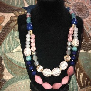 The Loft Beaded Tie Necklace
